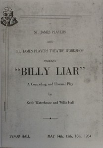 """St James Players """"Billy Lair"""" programme 1964"""