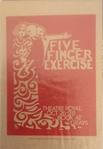 """St James Players """"Five Finger Exercise"""" programme 1967"""