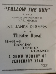 "St James Players ""Follow The Sun"" programme 1964"