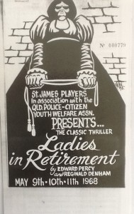 """St James Players """"Ladies in Retirement"""" programme 1968"""