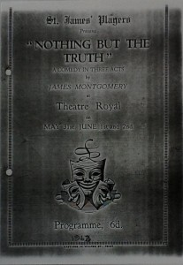 "St James Players ""Nothing But The Truth"" programme 1963"