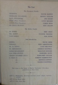 "St James Players ""You Can't Take It With You"" programme page 2 1964"