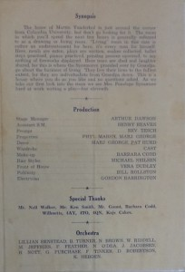 "St James Players ""You Can't Take It With You"" programme page 3 1964"
