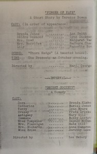 "St James Players 3 plays programme ""Finger of Fate"" & ""Bright Society"" 1965"
