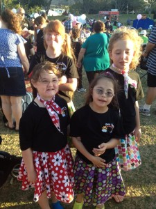 "Some of the Tiny Tappers Townsville dance group at the ""Inclusive Community Event"" 2013 at Strand Park. The group's second performance."