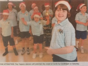 Saturday 9 December 2014 at 5.30pm performed at the Carols by Candlelight at Reid Park (Townsville Daily Bulletin 3 December 2014)