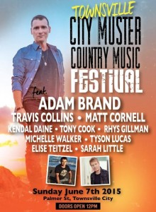 Townsville City Muster poster with artists listed 2015
