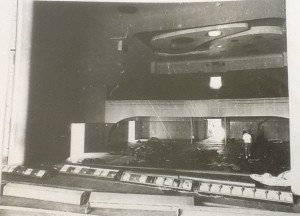 Theatre Royal interior during the removal of fittings April 1973