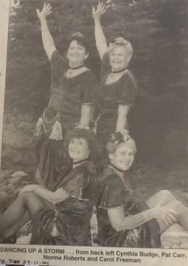 D'Esley Dancers 2007 From back left: Cynthia Budge, Pat Carr, Norma Roberts, and Carol Freeman. (Townsville Bulletin Tues 27 Nov 2007)