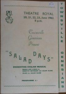 """Salad Days"" programme 1962"