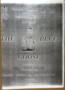 """The Blue Goose"" programme 1960"