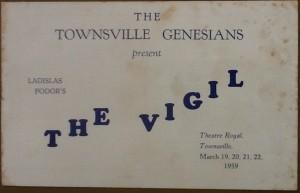 "Townsville Genesians ""The Vigil"" programme 1959"