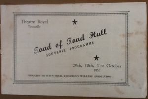 'Toad of Toad Hall' Programme 1959